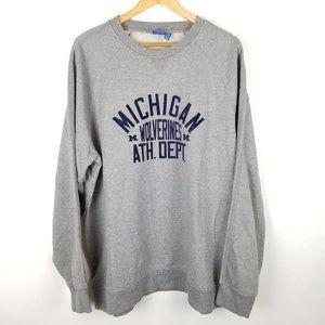 Adidas 2XL Michigan Wolverines Gray Sweatshirt